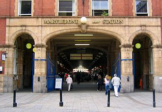 Chiltern Railways - The main entrance to London Marylebone