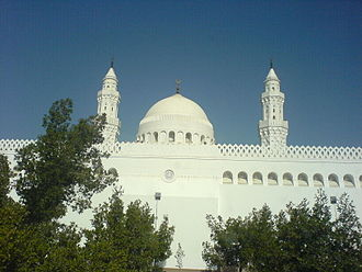Qibla - Masjid al-Qiblatayn in Medina is the place where the Qiblah was switched towards Mecca