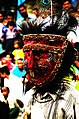 Masked Gavari Budia figure from rural Jaisamand troupe.jpg