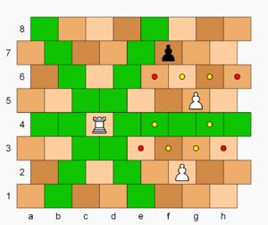 Masonic Chess - Image: Masonic Chess, rook and pawn moves