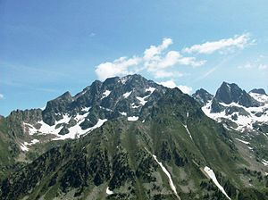 Monte Argentera - The Monte Argentera ridge from the Corno Stella to the Cima di Nasta.