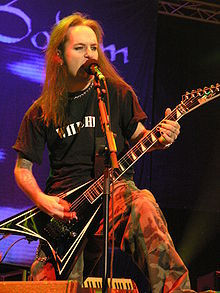 Alexi Laiho performing.