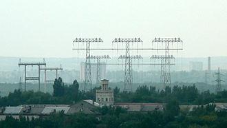 Zavodskyi District, Zaporizhia - Image: Masttripel in Zaporizhia 1