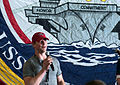 Matt Hendricks addresses crew of USS John C. Stennis.jpg
