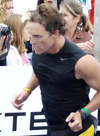 Matthew McConaughey - McConaughey in 2008, participating in the Nautica Malibu Triathlon
