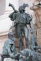 Matthias Fountain, 2012 Budapest. Hunter with horn (16988727857).jpg