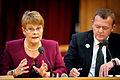 Maud Olofsson, naringsminister och vice statsminister Sverige och Lars Loekke Rasmussen, statsminister Danmark.jpg