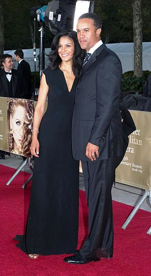 Maurice DuBois - DuBois with his wife Andrea at the Metropolitan Opera opening night in 2008