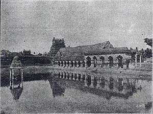 Mayiladuthurai - Mayuranathaswami temple tank filled with water from the Kaveri River