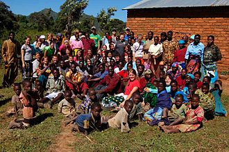 Mbeya - Students and teachers at a school in the village of Itete, near Mbeya