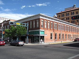 Albuquerque, New Mexico - The McCanna-Hubbell Building, built in 1915, is one of Downtown Albuquerque's many historic buildings
