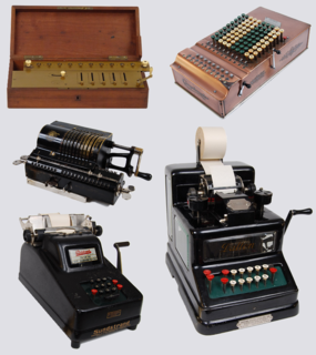 Mechanical calculator mechanical machine for arithmetic operations