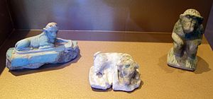 William the Faience Hippopotamus - Other faience pieces from the XII Dynasty.