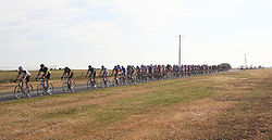 Riders in the 2007 race, near Werribee on the outskirts of Melbourne