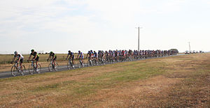 Melbourne to Warrnambool Classic - Riders in the 2007 race, near Werribee on the outskirts of Melbourne