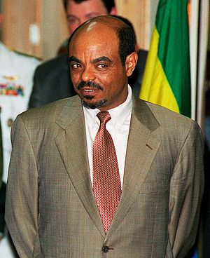 Ethiopian Prime Minister Meles Zenawi, public ...