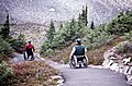 Men in Wheelchairs at Heather Lake, Mt Baker Snoqualmie National Forest (26340252342).jpg