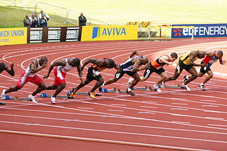 Dwain Chambers - Chambers racing against British competition in 2008.