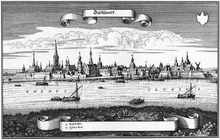 Merian d. Ä., Matthäus - Ansicht von Düsseldorf (1647)