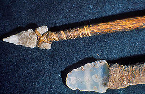 Spear - Hunting spear and knife, from Mesa Verde National Park
