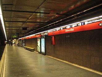 Barcelona Metro - Universitat station (L1)