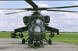 Helicoptero Mi 35M del Ejército Nacional.