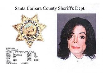 Trial of Michael Jackson - Michael Jackson's mug shot