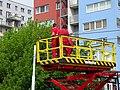 Michle, U plynárny, rekonstrukce TT, práce na vrchním vedení (01).jpg