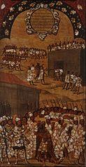 La Conquista de México. Tabla XVII