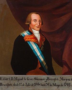 Miguel de la Grúa Talamanca, 1st Marquis of Branciforte - Miguel de la Grúa Talamanca y Branciforte, 1st Marqués de Branciforte, Viceroy of New Spain