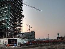 Il cantiere di Milano Santa Giulia a febbraio 2008