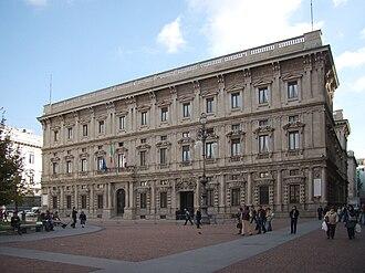 Palazzo Marino - Facade of Palazzo Marino in Piazza della Scala