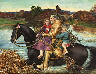 A Dream of the Past: Sir Isumbras at the Ford - Image: Millais Dream of the Past (copy) 1998 CKS 05987 0035 000()