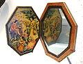 Mirror and Case, Lutf 'Ali Suratgar (1802-1871), Shiraz, Iran, 19th century, ink, watercolor, metallic pigment and gold on papier-mache, glass - Brooklyn Museum - Brooklyn, NY - DSC08453.JPG