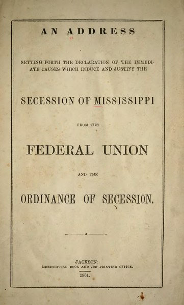File:Mississippi Declaration and Ordinance of Secession.djvu