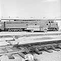 Missouri Pacific, Diesel Electric Passenger Locomotive No. 41, Refueling from Gulf Oil Truck (16919334711).jpg