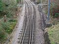 Mitcham tramstop interlaced track east.JPG