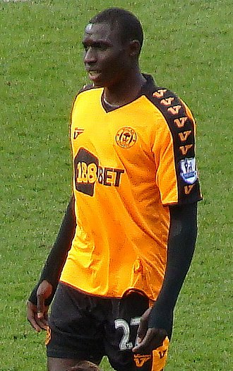 Mohamed Diamé - Diame playing for Wigan Athletic in 2010.