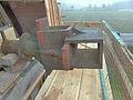 Molen Weseker standerdmolen Duitsland, bovenas insteekkop (5).jpg