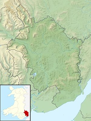 Location map Wales Monmouthshire