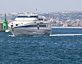 Monohull High speed craft Selinunte Jet entering the Harbour of Reggio Calabria - Italy - 5 May 2009.jpg