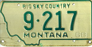 Vehicle registration plates of Montana - Wikiwand