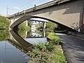 Montigny-le-Tilleul, pont de la R3 et pont du Chemin de fer sur la Sambre (01).jpg