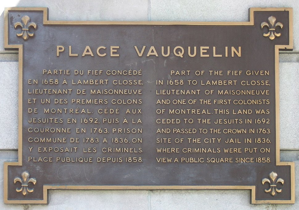 Montreal-Place Vauquelin, Note
