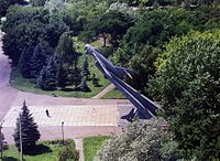 Monument of MiG-17 in Mariupol, 2006.jpg
