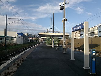 Morningside railway station, Auckland - Morningside Station's platform in 2014.
