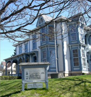 William J. McConnell - McConnell Mansion (1886) in Moscow is on the National Register; it is open for tours by the Latah County Historical Society.