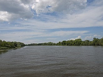 Moskva River - Moskva River in Kolomna, just upstream from its confluence with the Oka River