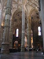 Lizbon'daki Jerónimos Manastırı'nın içi