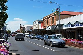 La grand'rue de Mount Gambier